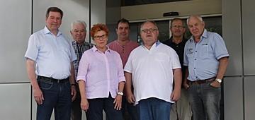 Membros do conselho municipal da CDU de Mühlacker de visita à elumatec