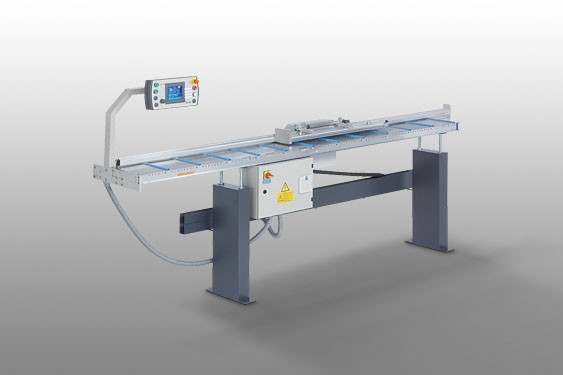 AMS 200 with E 355 Length stop and measuring system