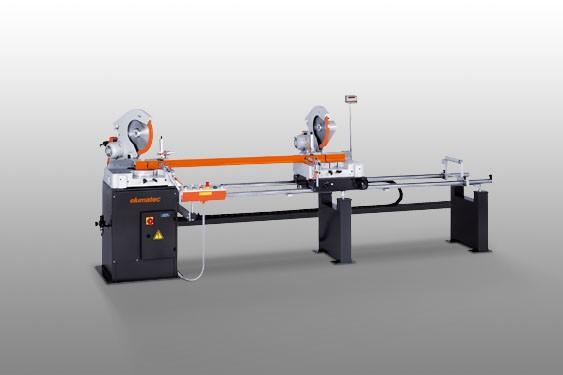 Perfis de PVC DG 79 Máquina de corte de duas cabeças angulares  Elumatec