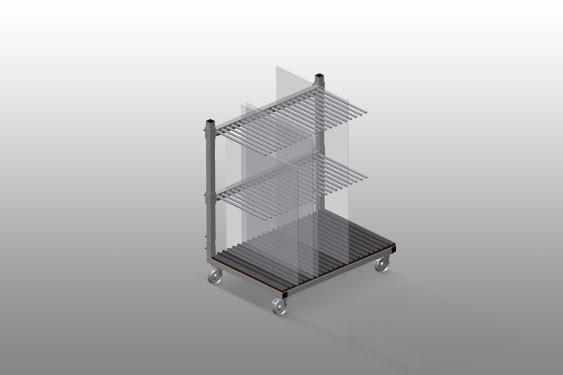 GF 1000 Glass transport trolley Elumatec