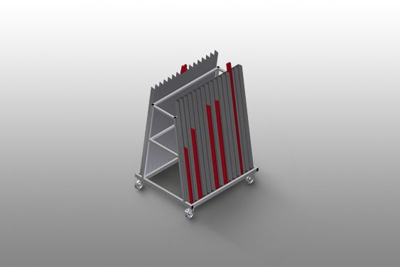 GLW 30 Glazing bead trolley