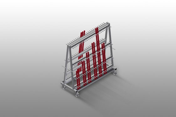 GLW 48 Glazing bead trolley
