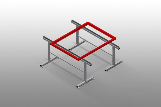 MB 2000 Assembly stands (1 pair) Elumatec