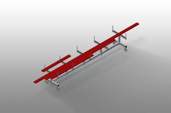 PLW 4000 Profile transport trolley Elumatec