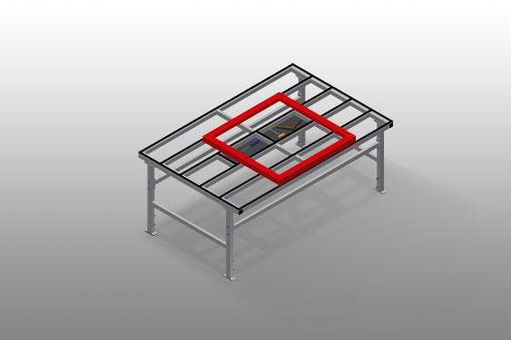 MST 2000 Table de déplacement