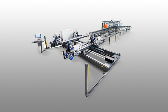 Welding and corner cleaning production line