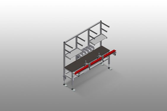 TMT 2000 Door bar assembly table