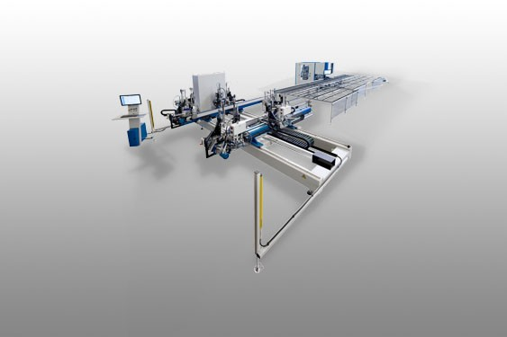 TURBO-LINE - Welding and corner cleaning production line