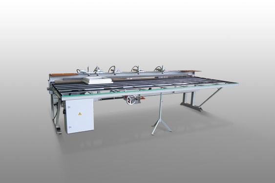 Perfis de PVC 930 Máquina de corte de tração inferior  Elumatec