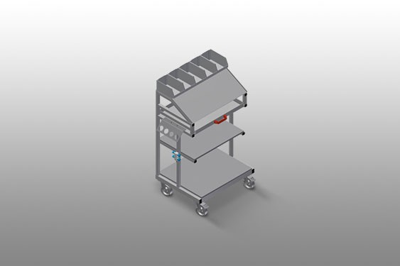 WKW 800 Tool and small-parts trolley Elumatec