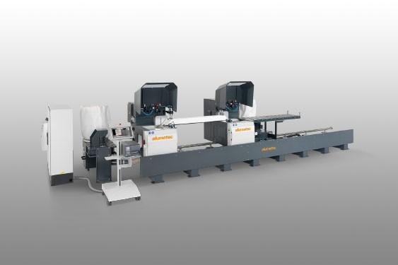 Perfis de PVC DG 142 XL Máquina de corte de duas cabeças angulares Elumatec