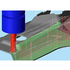 CAMäleon Multipass milling with Modulworks Elumatec