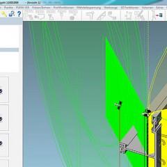 Software CAMäleon Sägeschnitt-Flächen-Visualisierung in Puma-System V19. Elumatec