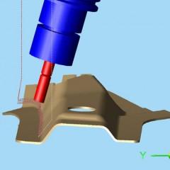 Software CAMäleon Walzfräsen mit 5-Achsen simultan aus Modulworks Option Elumatec