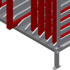 FPRM 10 Sash rack Supports Elumatec