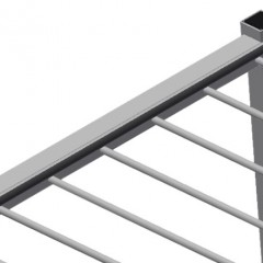 PWS 1800 Profile transport trolley Back support with rubber strips Elumatec