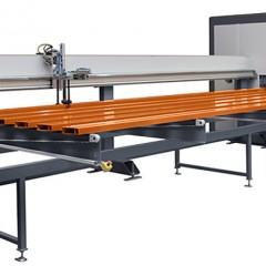 Profile machining centers SBZ 628 XXL Profile machining centre Infeed loading magazine Elumatec