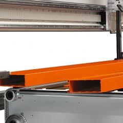 Centres d'usinage de barres SBZ 628 XXL Centre d'usinage de barres Système de prise en pince du profilé Elumatec