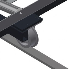 VR 3000 DF - Vertical roller conveyor with mobility and rotation mechanism Rails Elumatec