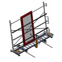 VR 3003 DF - Vertical roller conveyor with mobility and rotation mechanism Vertical roller conveyor with mobility and rotation mechanism VR 3003 DF Elumatec
