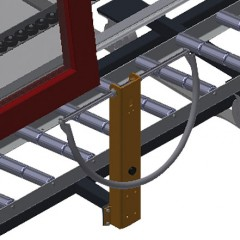 VR 3003 DF - Vertical roller conveyor with mobility and rotation mechanism Grip Elumatec