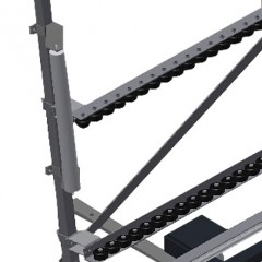 VR 3003 F - Vertical roller conveyor Lead-in rollers Elumatec