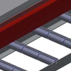 VR 3003 F - Vertical roller conveyor Profile protectors Elumatec