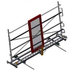 VR 4000 DF - Vertical roller conveyor with mobility and rotation mechanism Vertical roller conveyor with mobility and rotation mechanism VR 4000 DF Elumatec