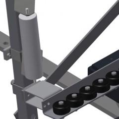 VR 4000 F - Vertical roller conveyor Lead-in rollers Elumatec
