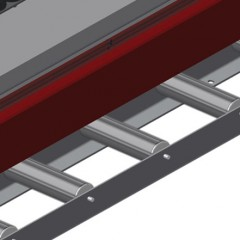 VR 4000 DF - Vertical roller conveyor with mobility and rotation mechanism Profile protectors Elumatec