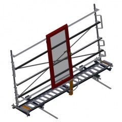VR 4003 DF - Vertical roller conveyor with mobility and rotation mechanism Vertical roller conveyor with mobility and rotation mechanism VR 4003 DF Elumatec