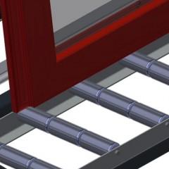 VR 4003 F - Vertical roller conveyor Support rollers Elumatec