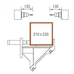 SBZ 122/75 Profile machining centre Machining area, Y and Z-axes Elumatec
