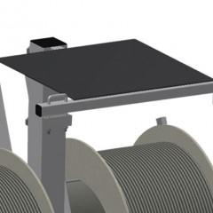 DW 2 Gasket trolley Storage area for tools Elumatec