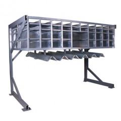 FAZ 2800 Sash assembly centre Hardware rack (option) Elumatec