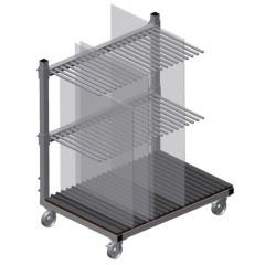 GF 1000 Glass transport trolley Glass compartment trolley GF 1000 Elumatec