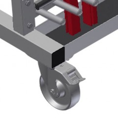 GLW 48 Glazing bead trolley Casters Elumatec