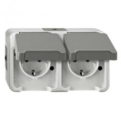 G 3000 Equipment holder Double two-pin grounded socket Elumatec