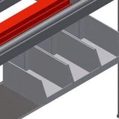 HT 2000 Horizontal table – Individual table Storage area Elumatec