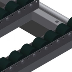 HT 2000 Horizontal table – Individual table Roller support, cmpl., for HT 2000/PVC Elumatec