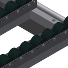 HT 2045 L Horizontal table – Left table, 45° Roller support, cmpl., for HT 2045/PVC Elumatec