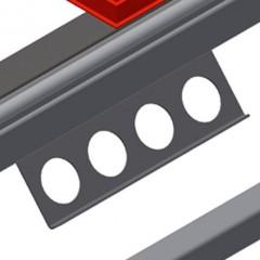 HT 2045 L Horizontal table – Left table, 45° Tool rack Elumatec