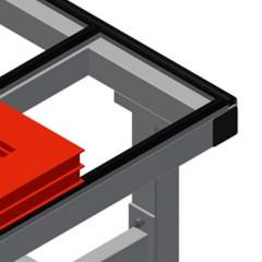 HT 3000 Horizontal table – Individual table Rubber strips Elumatec