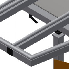 KTH 3000 Tilting table with height adjustment Rubber strips Elumatec