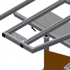 KTH 3000 Tilting table with height adjustment Pull-out profile support Elumatec