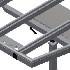 KT 3000 Tilting table Pull-out profile support Elumatec