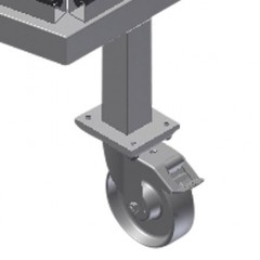 KW 3 Commissioning trolley Casters Elumatec