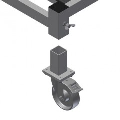 KW 4 Commissioning trolley Removable casters Elumatec