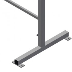MB 2000 Assembly stands (1 pair) Height adjustment Elumatec