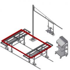 MSA 2400 Assembly station Pair of assembly stations MSA 2400 + G 3000 + S 3000 + WKW 800 Elumatec